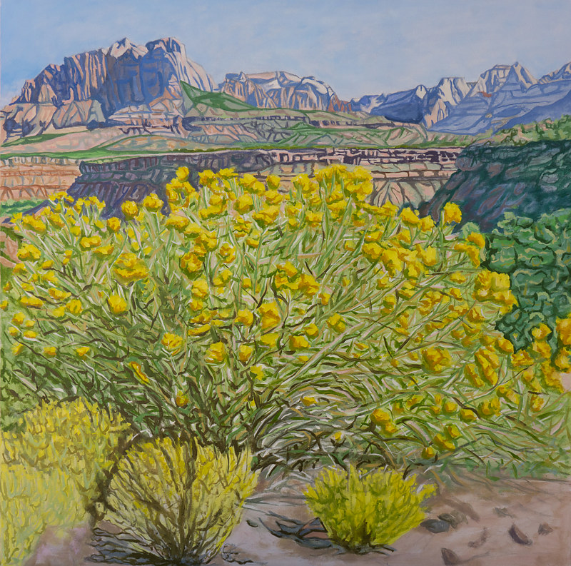 Oil painting Zion View  by Crystal Dipietro