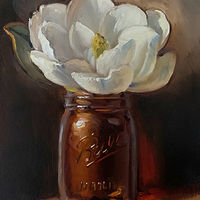 """Magnolia in Amber Jar""  by Noah Verrier"