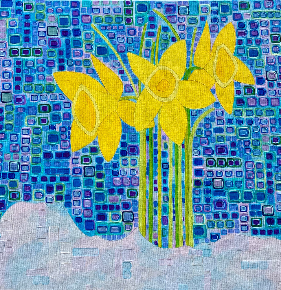 Acrylic painting Spring Promises  by Donna Howard