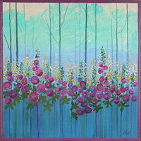 Acrylic painting Growing Wild by Louise Hall by Passionate Painters