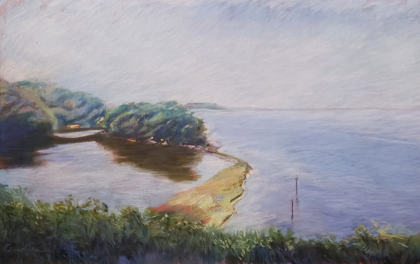 The Severn #1  pastel 15x24 by Michael Gaudreau
