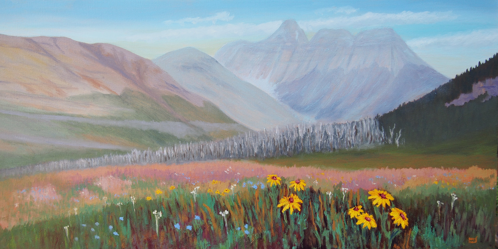 Oil painting After the Fire - Waterton Park by Brent Ciccone
