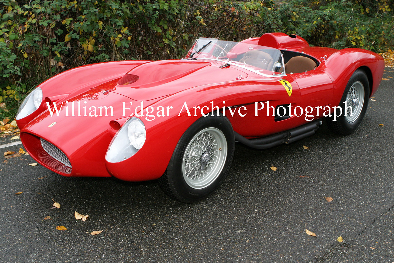 Photography [CC-FTRP1] Ferrari 250 Testa Rossa s/n 0666 TR is the first of four TR prototypes built, and still survives - Medina, Washington by William Edgar