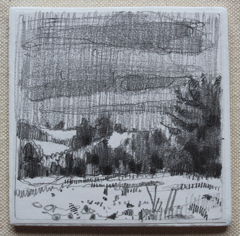 Drawing South Hills, Overcast by Harry Stooshinoff