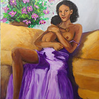 Acrylic painting Mother's Love by Jeanne Lloyd