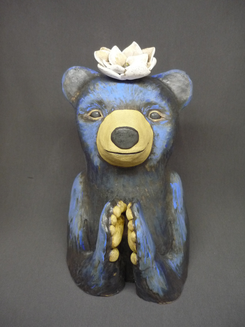 Bear and Lotus by Leanne Schnepp