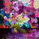 "Mixed-media artwork ""Floral Explosion"" by Mike Salcido"