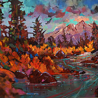 High Country Stream  Acrylic  30x40       2020  23 by Brian  Buckrell