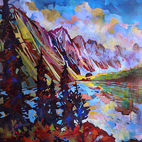 More Moraine Acrylic  30x36  2020  234 by Brian  Buckrell