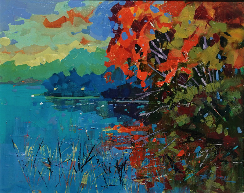 Weekend at the Cottage  Acrylic 16x20 2019 by Brian  Buckrell