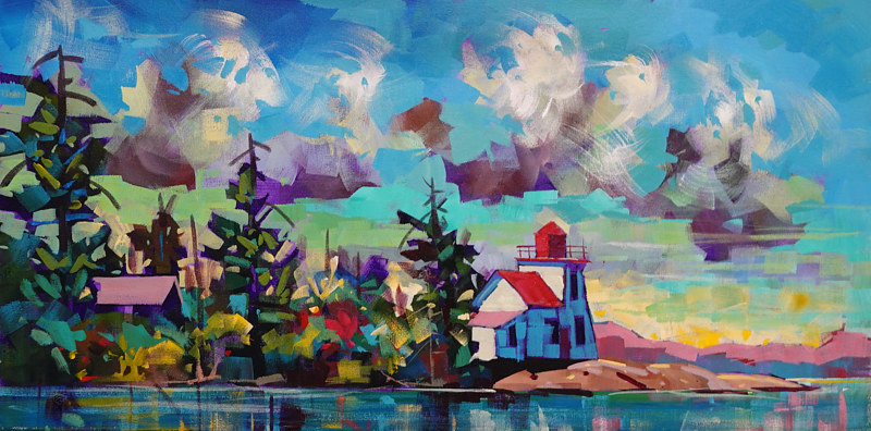 Honey Harbour Watch  Acrylic2  15x30 2020 by Brian  Buckrell