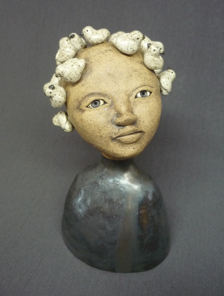 Mini Bust with Flock by Leanne Schnepp
