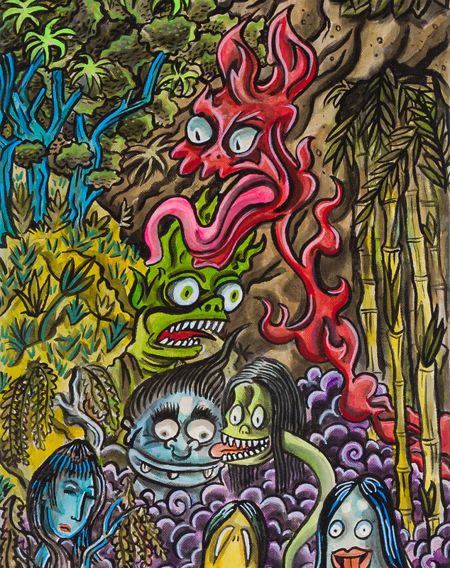 Painting 79 Night of the Yokai 2 by Kenneth M Ruzic