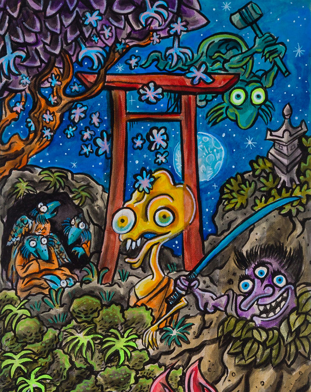 Painting 79 Night of the Yokai 1 by Kenneth M Ruzic