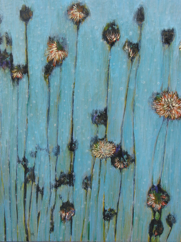 Blue Flowers (2nd panel) by Linda Henningson