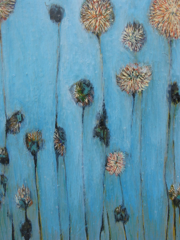 Blue Flowers (3rd panel) by Linda Henningson