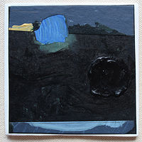 Acrylic painting RESERVED FOR JAVIER, Night Wish  by Harry Stooshinoff