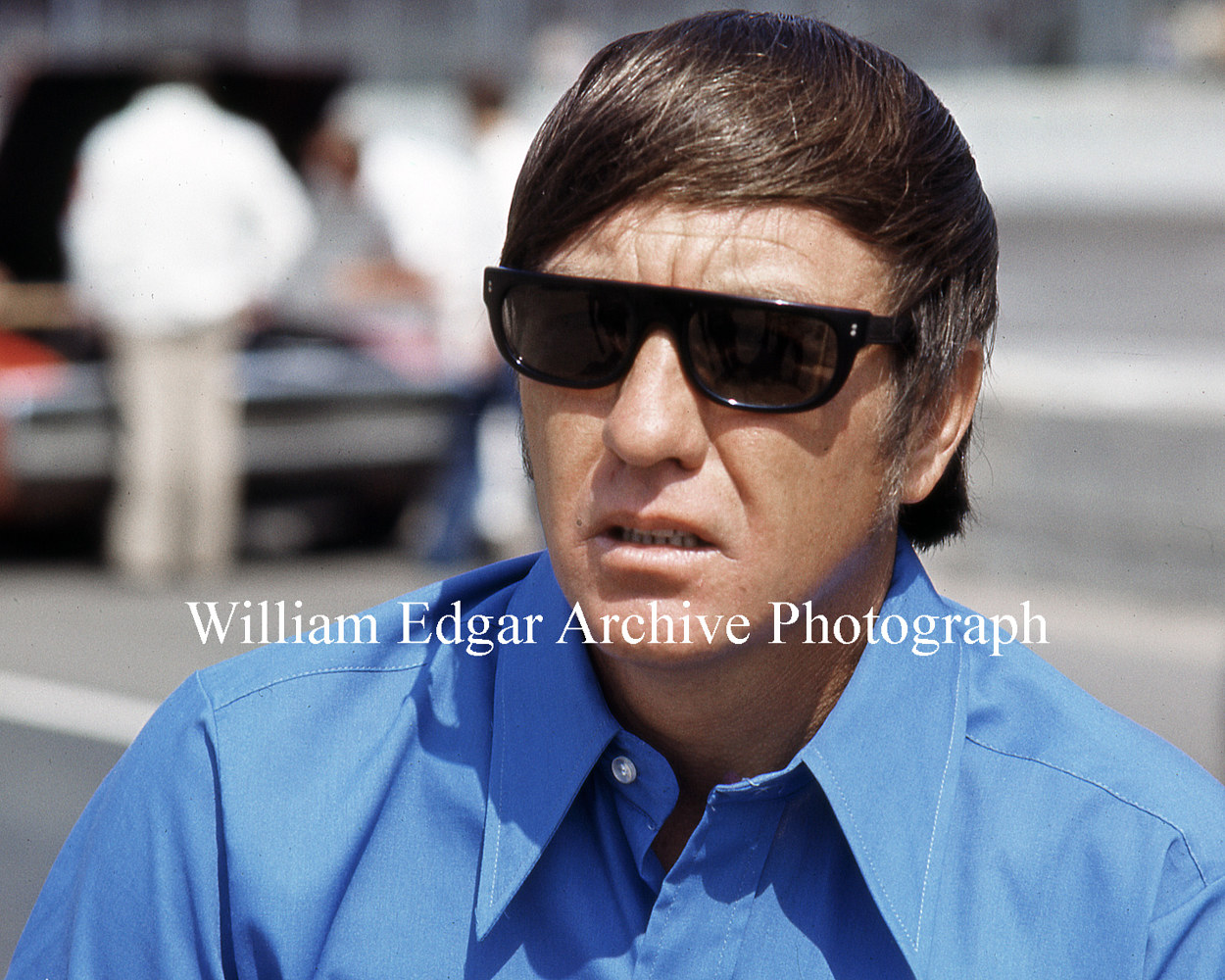 Photography [RI-BIPAD] Bobby Isaac at the NASCAR Reble 400 - Darlington Raceway, South Carolina - May 1, 1971 by William Edgar