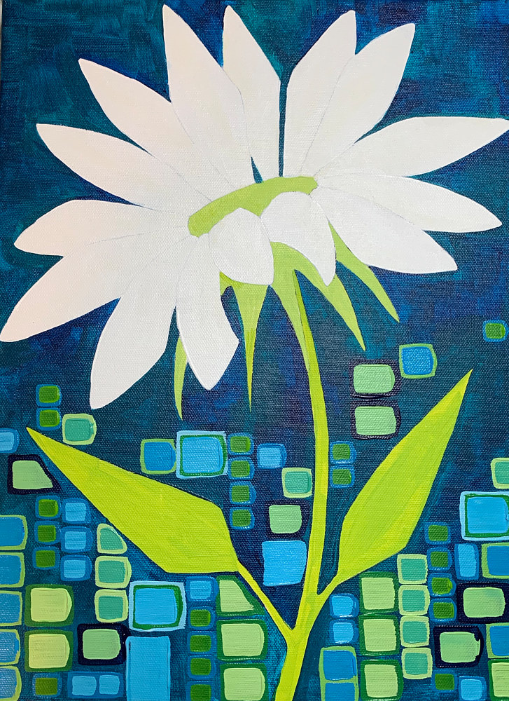 Acrylic painting Dazzled by Donna Howard