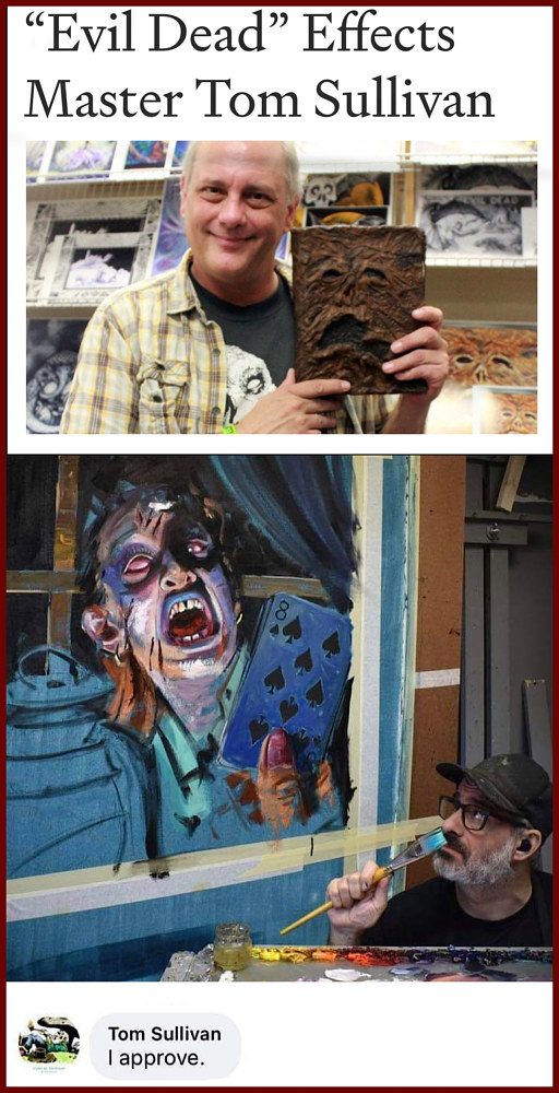Tom Sullivan (Evil Dead special effect) by Angelo Mariano