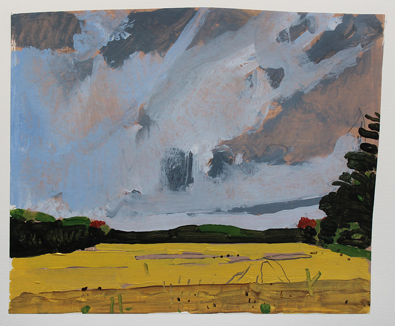 Painting Bean Field, September 24 by Harry Stooshinoff