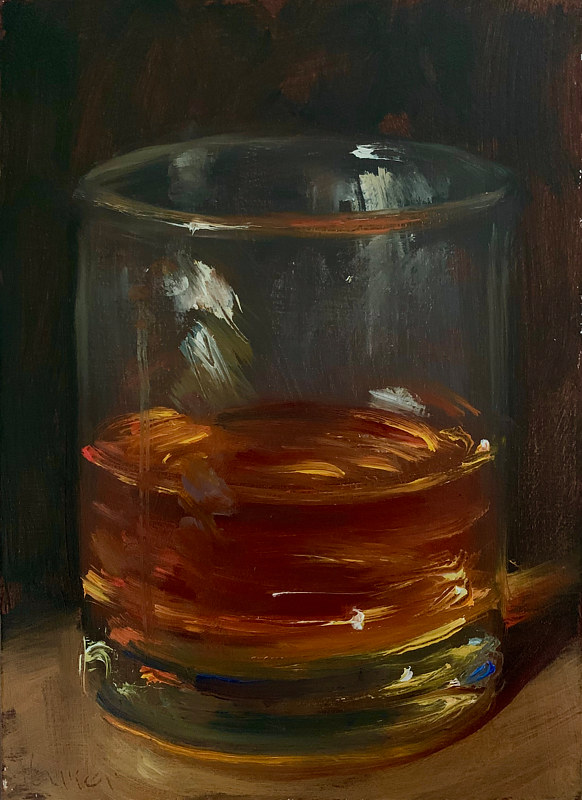 """Glass of Whiskey""  by Noah Verrier"