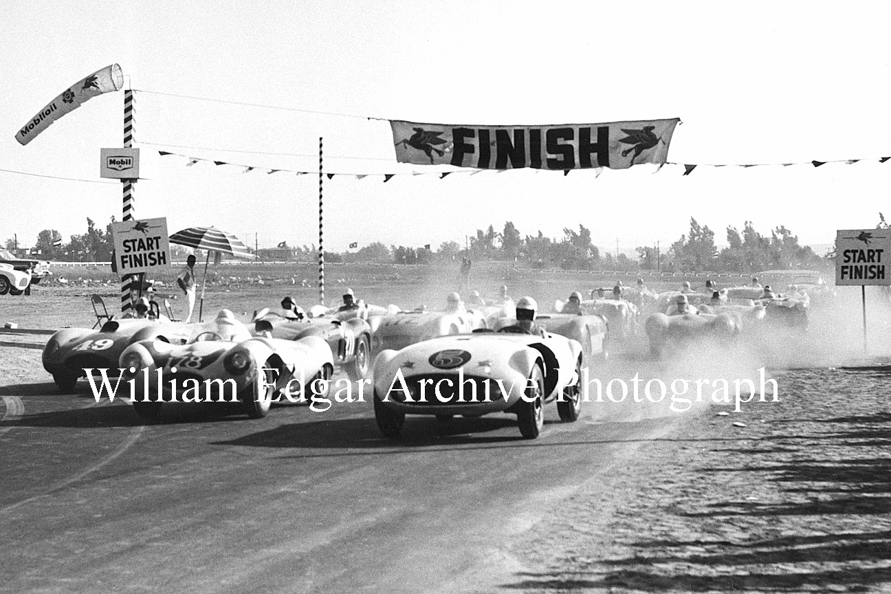 Photography [RV-RRRSS] Over-1500 Modified race start - Inaugural Riverside International Motor Raceway - Riverside, California - September 22, 1957 by William Edgar