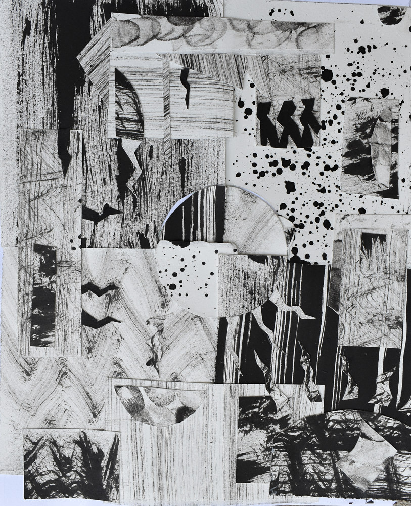 Drawing Abstract Collage  by Sebastian Evans