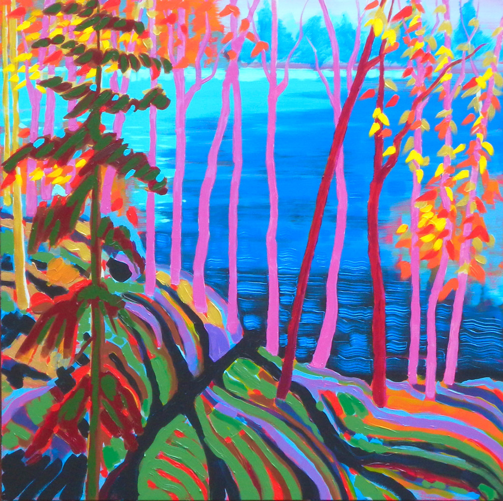 Painting Canadian Shield by Gordon Sellen