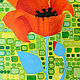 Acrylic painting One Tall Poppy by Donna Howard
