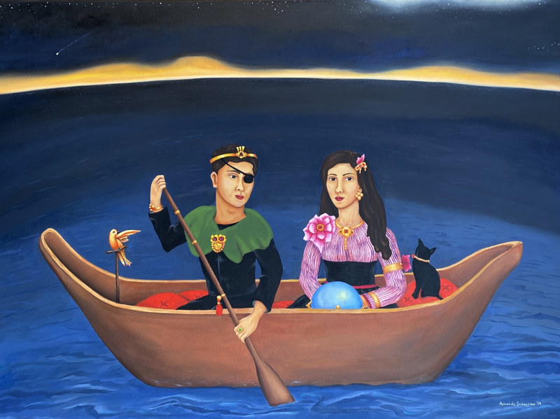 Oil painting The Dreamers by Armando Huerta