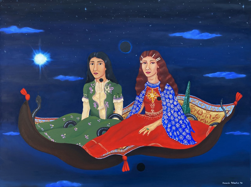 Oil painting Indra & Eloise by Armando Huerta