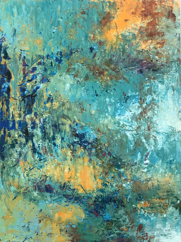 AbstractingMonet_40x30 by Adam Thomas