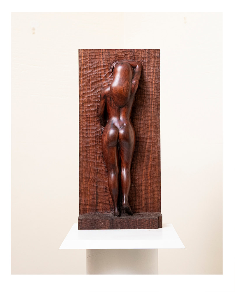 American Thighs, 24 x 9, Walnut by Larry Scaturro