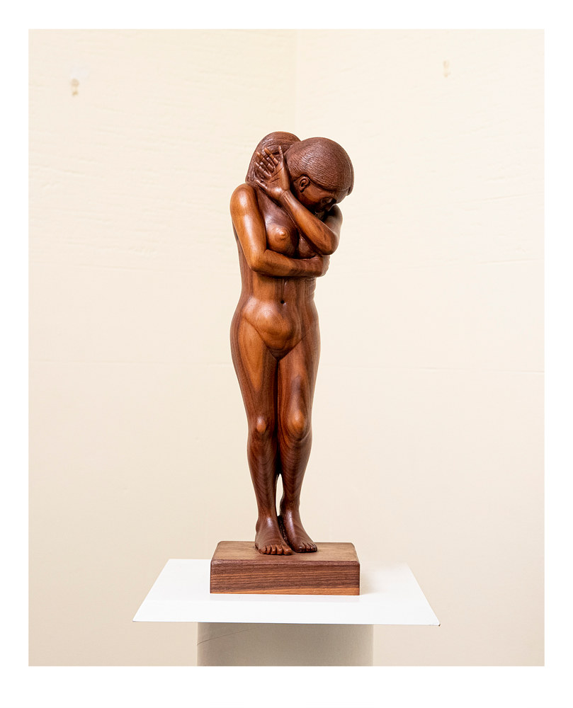 Eve, 20 x 6 x 4, Walnut by Larry Scaturro