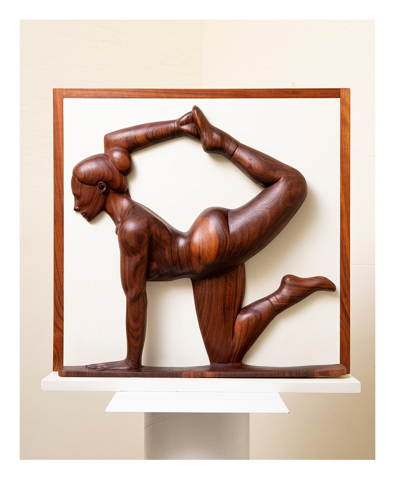 Balance, Walnut, 22 x 22 x 3 by Larry Scaturro