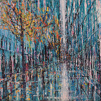 Acrylic painting Blue Avenue by David Tycho