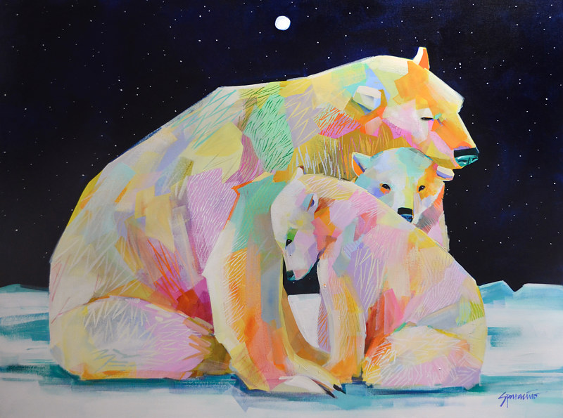 "Acrylic painting ""Polar Family"" by Jennifer Sparacino"