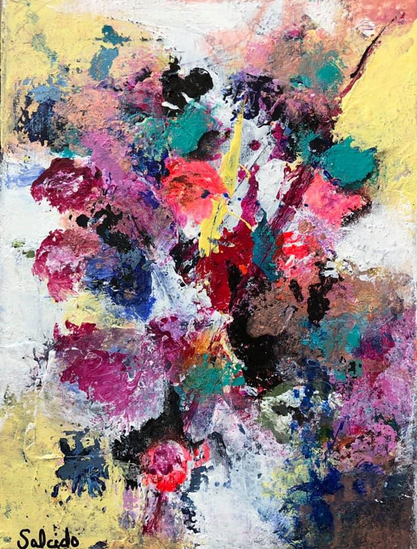 "Mixed-media artwork ""Wildflowers"" by Mike Salcido"