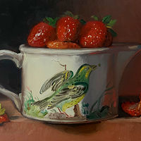 """Strawberries in Birds of Britain"" by Noah Verrier"