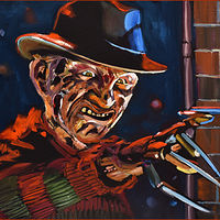 Oil painting Freddy by Angelo Mariano