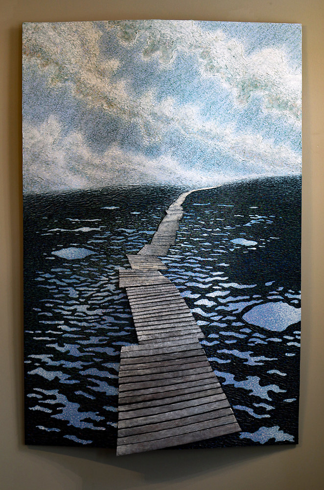 Acrylic painting Duckboards by Douglas Moulden