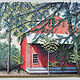 Acrylic painting The Red Barn by Douglas Moulden