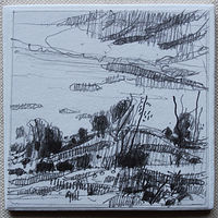 Drawing Secret Field, October 6 by Harry Stooshinoff