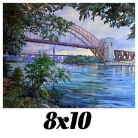 Print Unframed- 8x10 Canvas Print-Hell Gate Bridge, Astoria, Queens, N.Y. by Elizabeth4361 Medeiros