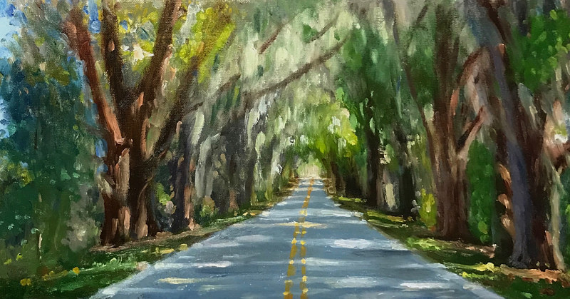 """Canopy Road"" LARGE SCALE 36x18 by Noah Verrier"