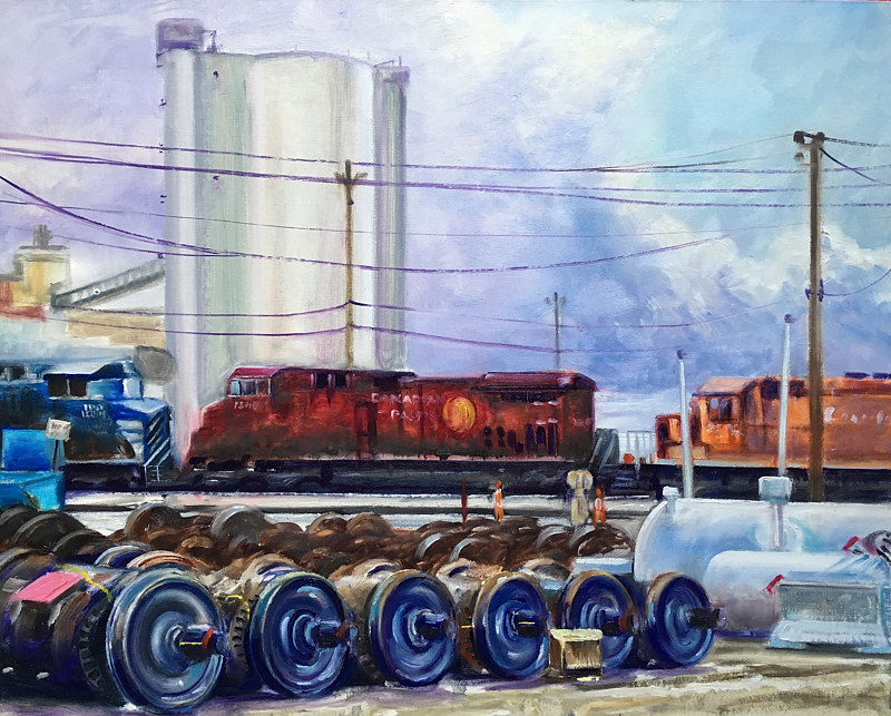 "Oil painting ""Rolling"" by James Lutzko"