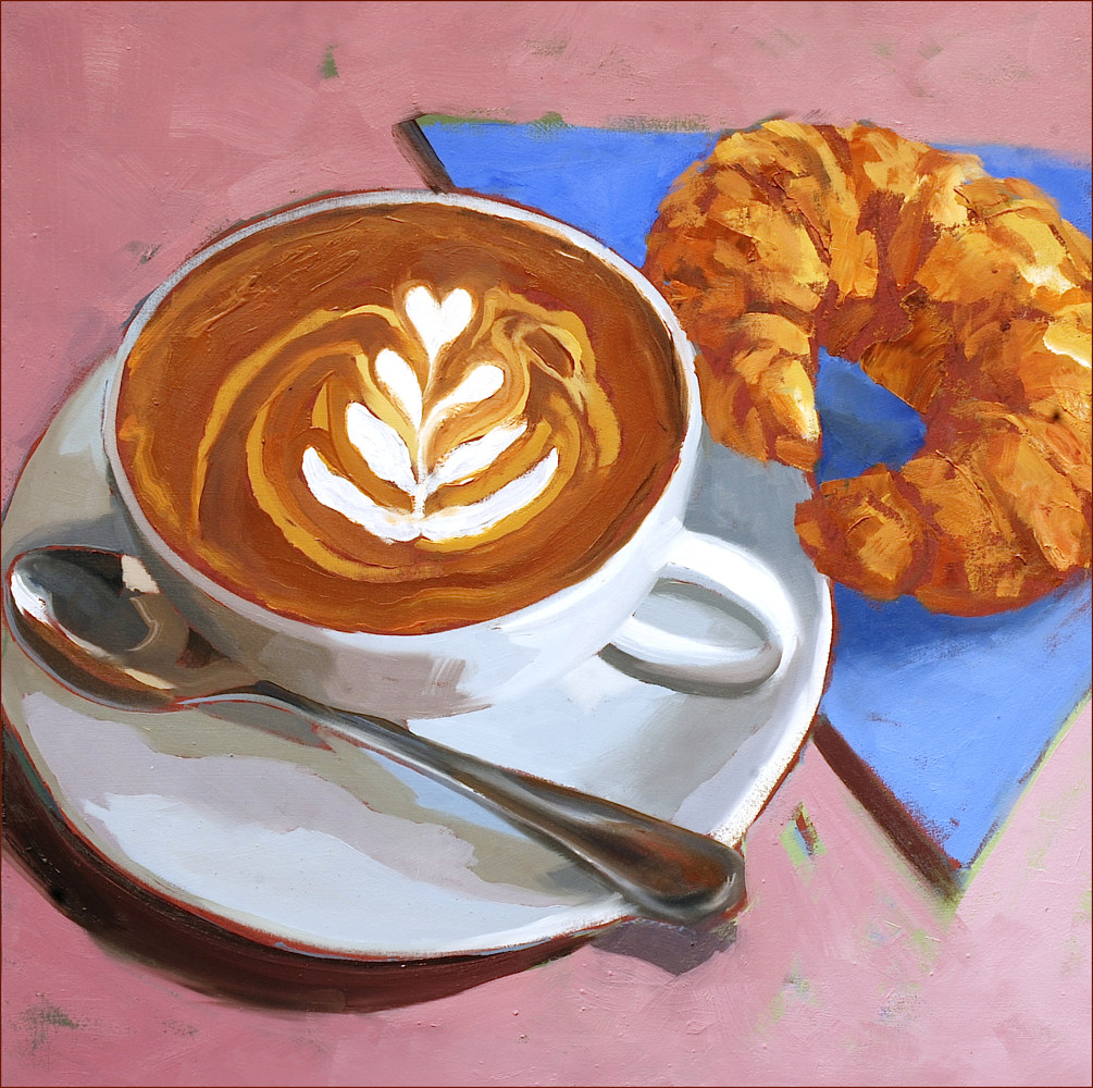 Oil painting Cappuccino by Angelo Mariano