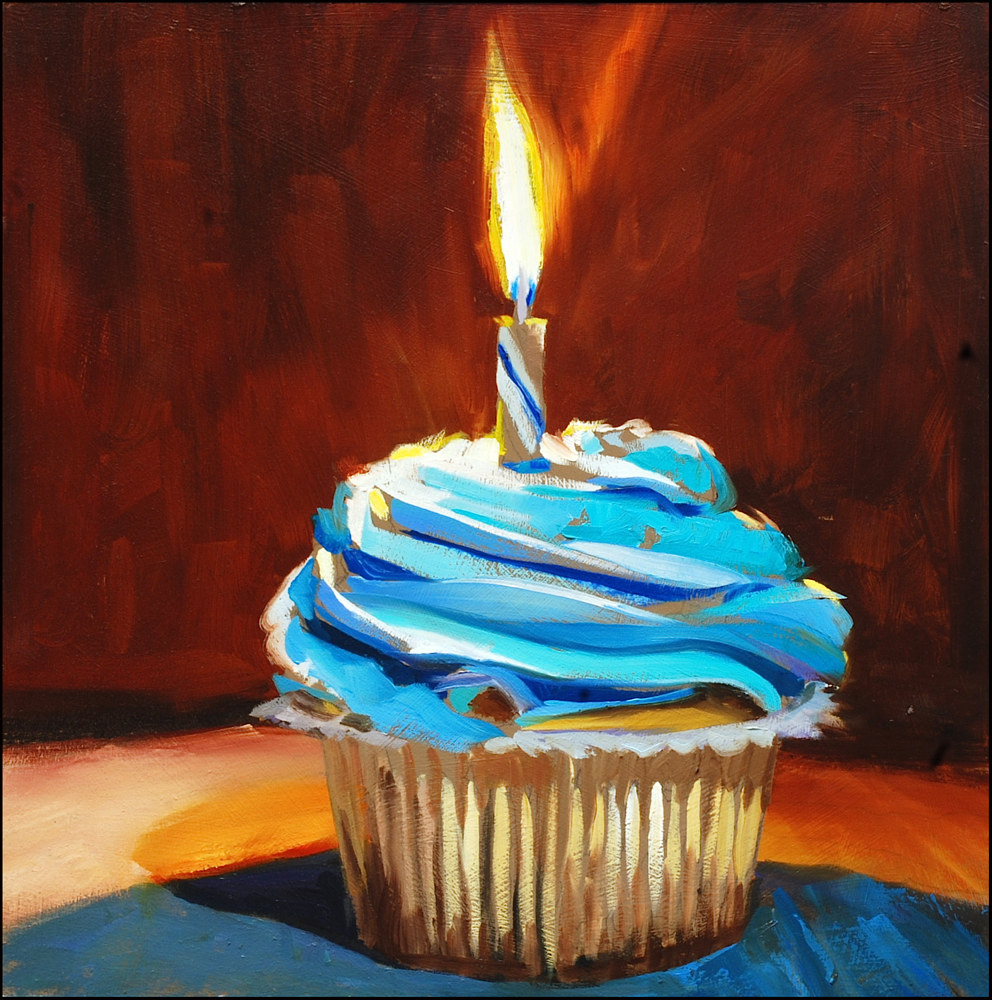Oil painting Cupcake by Angelo Mariano