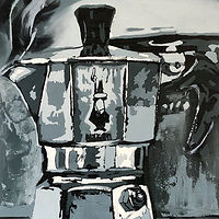Oil painting Bialetti by Angelo Mariano